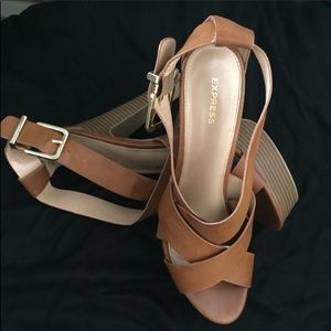 Tan Sprappy Sexy Heels - worm only once